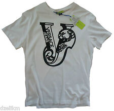 NWT Versace Jeans by Gianni Versace LOGO Graphic Print Tee in White