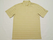 New Mens M/XL/2XL Nike Golf Dri Fit Golf/Polo Shirt Khaki/White Stripes $50