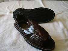 Mens LEATHER MEXICAN SANDALS brown HUARACHE *made in mexico* SHOES