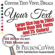Custom Vinyl Lettering, Text, or Name - Personalized Wall Sticker Decal