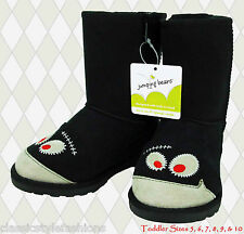 MSRP $39.99  Tod 5M, 7M, 8M, 9M, 10M  New Jumping Beans Black Toddler Boots