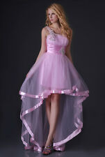 High-Low Prom Dress Wedding Bridesmaid Evening Gown Graduation Party Dresses
