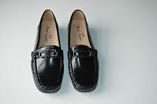 New Flat Women Comfortable Shiny Loafers With a Buckle -Earth