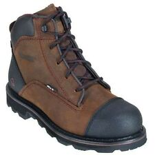 "NEW! WOLVERINE APOLLO -PEAK AG 6"" Shoes Leather MEN'S BOOTS Dark Brown -SIZE 7.5"
