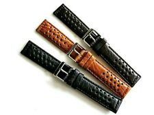 Tropic Buffalo calf GT Rally Sport racing perfed hole watchband strap IW SUISSE