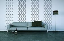 Wall Decal Retro Geometric Rectangles Mod Modern Mid-Century Pattern Shapes