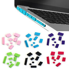 1X9pcs Silicone Anti Dust Plug Ports Cover Set For Laptop Macbook Pro 13 15 New