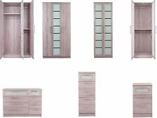 Canterbury Limited Limed Oak Effect Distressed & White Glass Bedroom Furniture