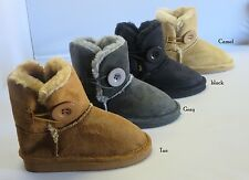 Girl Winter Boots W/ Button Ankle Booties (betty101) TODDLER