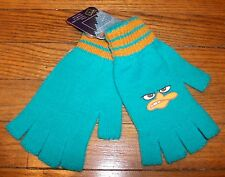 Fingerless Gloves Perry the Platypus AGENT P DISNEY'S Phineas & Ferb