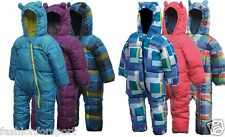 Dare2b Bugaloo Kids Babies Padded Snowsuit One Piece 0-6 Months To 3-4 Years