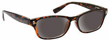 Sun Readers Reading Glasses Sunglasses UV400 Mens Womens Wayfarer Brown UVSR010