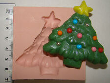 SILICONE MOULD CHRISTMAS SANTA SNOWMAN TREE GINGERBREAD ICING CAKE TOPPERS FIMO