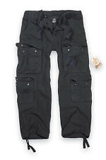 MILITARY SURPLUS MENS COMBAT TROUSERS ARMY CARGO WORK WEAR PANTS VINTAGE BLACK