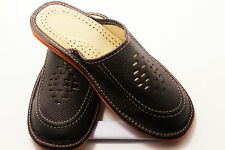 SLIPPERS Scuffs  Genuine Leather Size (Men's): 8, 8.5, 9.5, 10,11, 12Black,brown
