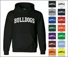 Bulldogs College Letter Team Name Jersey Hooded Sweatshirt