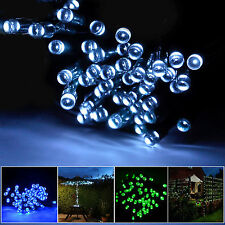 US 100 LED Solar Fairy String Lights For Outdoor Gardens  Homes Christmas Party