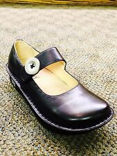 Women's Alegria Paloma Mary Jane Shoe Black Napa Leather PAL 601