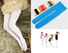 New Girls Kids Footed Tights Stockings Leggings Ballet Dance Solid Candy Colors