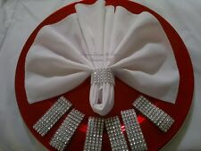 100 Rhinestone Bling Napkin Rings - Wedding, Baby Shower, Party, Quincenera