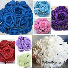 15 Real Touch Rose Bridal Bouquet Wedding Flower Home Decor Table Centerpiece 3""