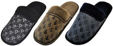 MEN'S HOUSE SLIPPERS - BLACK BROWN NAVY-  INDOOR OUTDOOR HOME STREET -1514