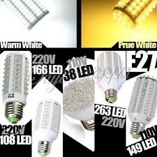 E27 38 60 108 166 263 LED Warm / Pure White Corn Light Saving Bulb Lamp 220V new