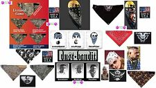 Hav A danna DUST BANDIT Adjustable Head Bandana 3in1 Face Mask Wrap Doo Rag Cap