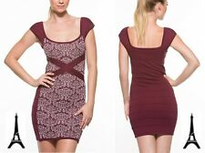 WOW COUTURE NEW LADIES FLORAL PRINT BANDAGE CLUB PARTY COCKTAIL MINI DRESS