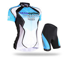 New Cycling Women girls Jersey + shorts Quick Dry Breathable Bike wear Size S-XL