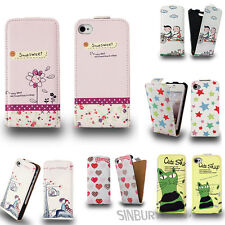 STYLISH LEATHER FLIP CASE COVER FOR APPLE IPHONE 5S 5 * FREE SCREEN PROTECTOR *
