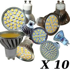 10 x DIMMABLE BULBS GU10 or E14 / SMD LED or COB LED * Warranty - VAT INVOICE
