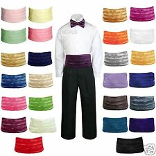 27 Colors Satin Bow Tie Cummerbund for Infant Toddler Kid Boy Suit Formal Tuxedo