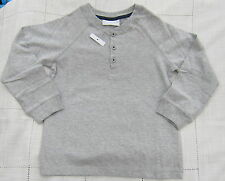 LITTLE WHITE COMPANY BOYS MARL GREY HENLEY TOP TEE AGES 2-14 1BNWOT