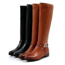 Hot Stylish Shoes Genuine Leather Womens Riding Boots Knee High Fashion #78