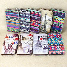 Tribal & Tower Flip Leather Wallet Case Cover For Samsung Galaxy Note II 2 N7100