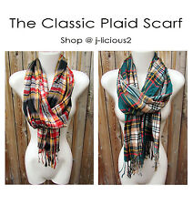CLASSIC PLAID SCARF Wrap Shawl Men Women Cool Hip Trendy Style