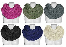 Women Ladies New Plain Knitted Soft Cosy Snood Scarf Neck Wrap Shawl Cowl Warmer