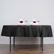 "90"" Round Polyester Tablecloth Wedding Party Table Linens Supply - 15 colors"