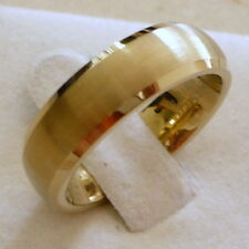 6MM TUNGSTEN CARBIDE MEN'S WOMEN'S GOLD PLATED BRUSHED WEDDING BAND RING SZ5-9.5