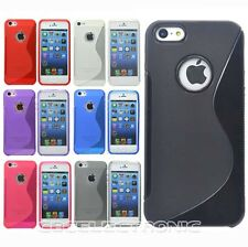 1x New S Shape Skidproof Gel skin case back cover for iphone 5 5S