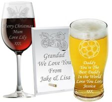 Personalised Glass Christmas Gifts Daddy Grandad Dad Grampie Grandpa Granda