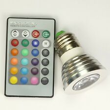 16 Colors 5 Modes LED Light Bulb And Remote Controller Magic Lighting 3W E27