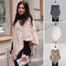 New Elegant Stylish Real Farms Rex Rabbit Fur Neck Warmer Scarf Shawl Wrap Vest