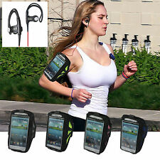 Running Sports Armband Case w/ Hook Headphones for Sumsung Galaxy S4 i9500 S3