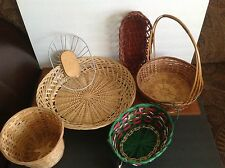 Baskets (Wicker, Wire/ Wood) 6 Choices in Various Sizes