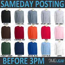 GILDAN LONG SLEEVE T-SHIRT 100% COTTON PLAIN MENS ADULT HEAVYWEIGHT ULTRA 2400