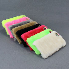Sweet For iPhone 5G 5S Fluffy Villi Fur Plush Wool Bling Hard Case Cover Protect