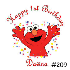 Elmo Birthday boy girl Shirt Name Age Personalized 1st 2nd 3rd 4th 5th Child