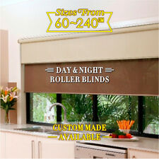 Dual Day/Night double Roller Blinds Fits 60-210cm (width)x 210cm (drop)-7 colors